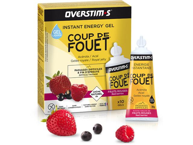 OVERSTIM.s Coup de Fouet Sachet de gels liquides 10x30g, Red Berries